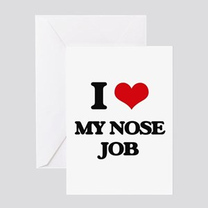 Nose job greeting cards cafepress i love my nose job greeting cards m4hsunfo