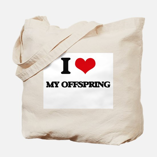 I Love My Offspring Tote Bag