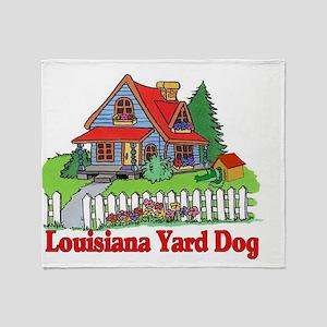 Louisiana Yard Dog Throw Blanket