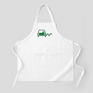 Green electric car Apron