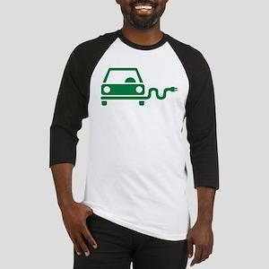 Green electric car Baseball Jersey