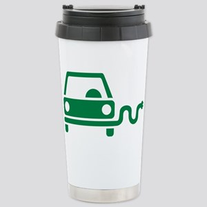 Green electric car Stainless Steel Travel Mug