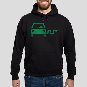 Green electric car Hoodie (dark)