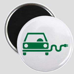Green electric car Magnet
