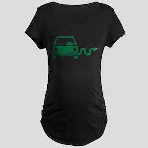 Green electric car Maternity Dark T-Shirt