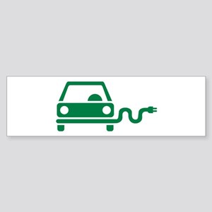 Green electric car Sticker (Bumper)