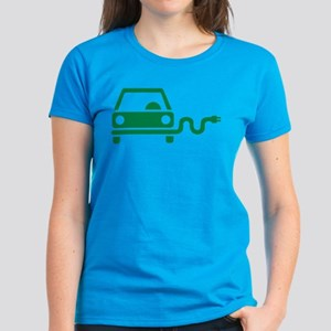 Green electric car Women's Dark T-Shirt