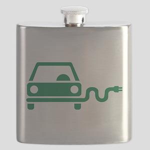 Green electric car Flask
