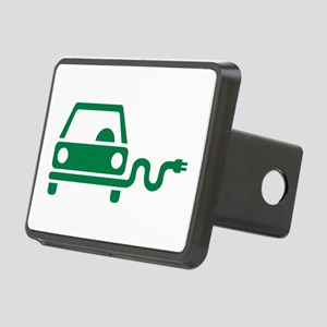 Green electric car Rectangular Hitch Cover