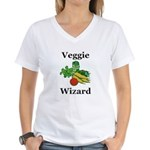 Veggie Wizard Women's V-Neck T-Shirt