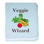 Veggie Wizard baby blanket