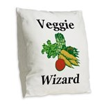 Veggie Wizard Burlap Throw Pillow