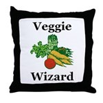 Veggie Wizard Throw Pillow