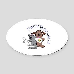 FUTURE VETERINARIAN Oval Car Magnet