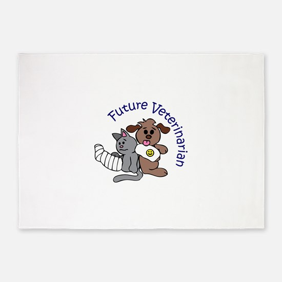 FUTURE VETERINARIAN 5'x7'Area Rug