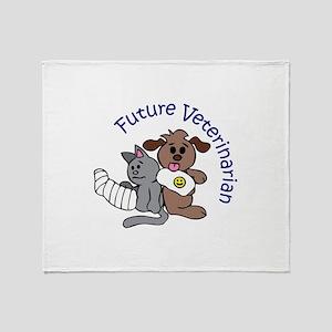 FUTURE VETERINARIAN Throw Blanket