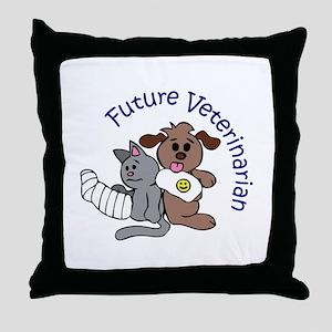 FUTURE VETERINARIAN Throw Pillow