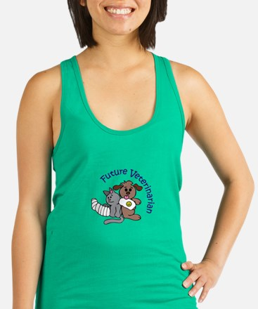 FUTURE VETERINARIAN Racerback Tank Top