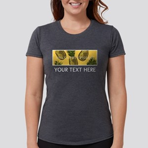 Delta Phi Epsilon Pineapp Womens Tri-blend T-Shirt