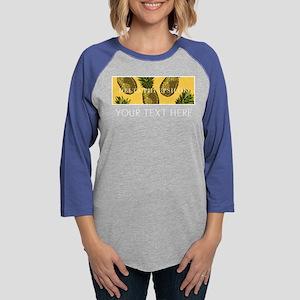 Delta Phi Epsilon Pineapples P Womens Baseball Tee