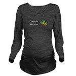 Veggie Hunter Long Sleeve Maternity T-Shirt