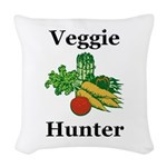 Veggie Hunter Woven Throw Pillow