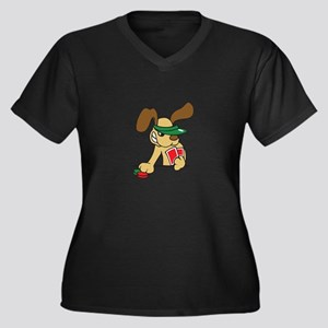 POKER DOG Plus Size T-Shirt