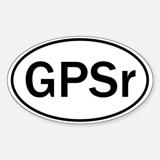 """""""GPSr"""" Oval Decal"""
