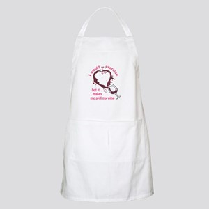 EXERCISE AND SPILLED WINE Apron