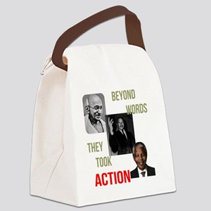 Gandhi MLK Madela Canvas Lunch Bag