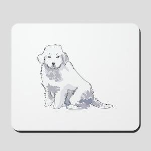 GREAT PYRENEES PUP Mousepad