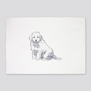GREAT PYRENEES PUP 5'x7'Area Rug