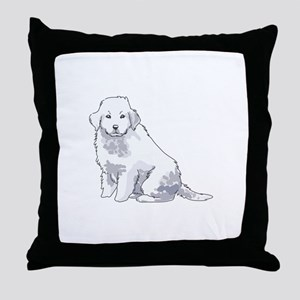 GREAT PYRENEES PUP Throw Pillow
