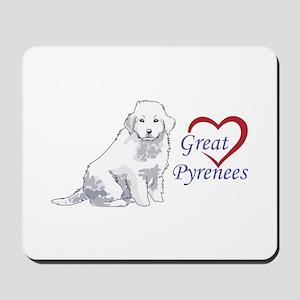 LOVE GREAT PYRENEES Mousepad
