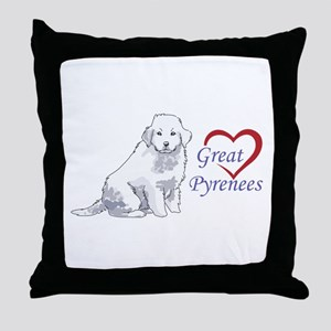 LOVE GREAT PYRENEES Throw Pillow