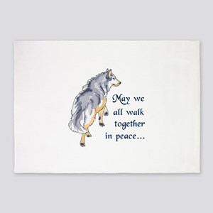 WALK TOGETHER IN PEACE 5'x7'Area Rug