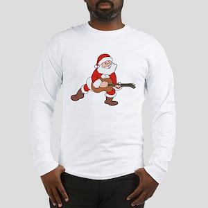 Santa w/ Guitar Long Sleeve T-Shirt