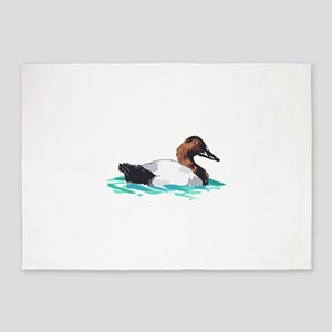 CANVASBACK DUCK 5'x7'Area Rug
