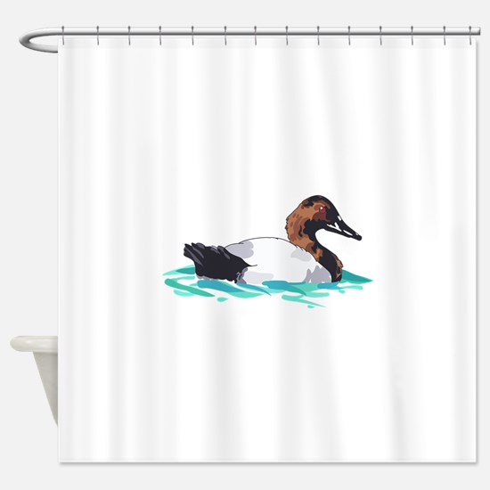 CANVASBACK DUCK Shower Curtain