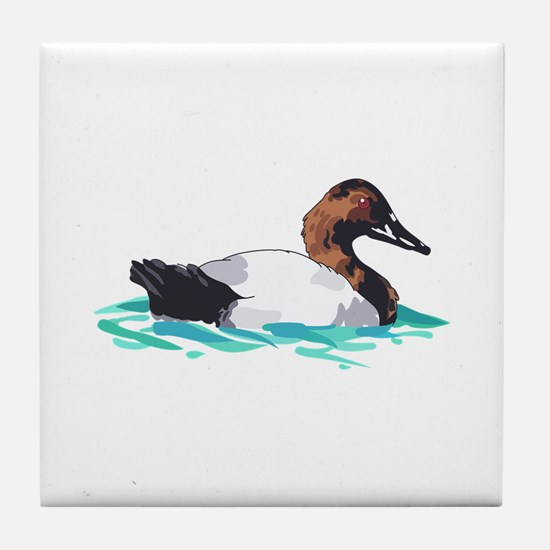CANVASBACK DUCK Tile Coaster