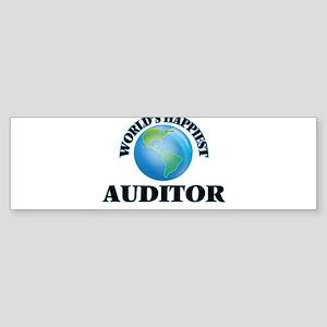 World's Happiest Auditor Bumper Sticker