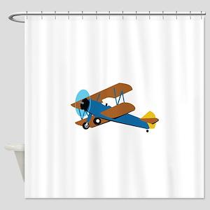 VINTAGE BIPLANE Shower Curtain