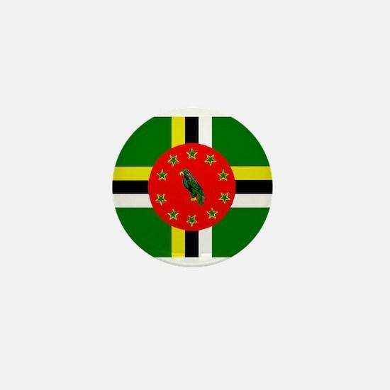 The Commonwealth of Dominica flag Mini Button