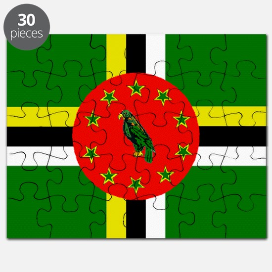 The Commonwealth of Dominica flag Puzzle