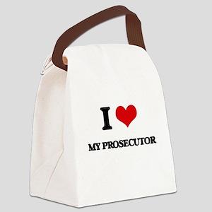 I Love My Prosecutor Canvas Lunch Bag