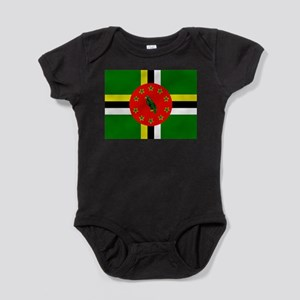 The Commonwealth of Dominica flag Baby Bodysuit
