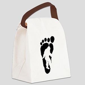 Bigfoot print Canvas Lunch Bag