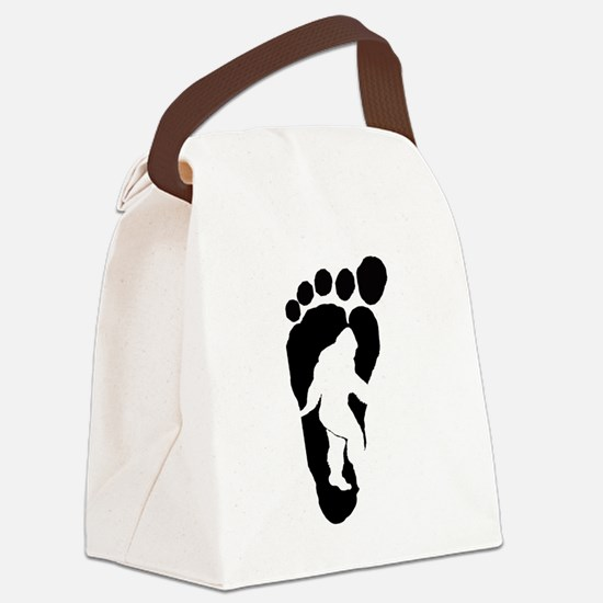 Bigfoot print Canvas Lunch Bag