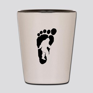Bigfoot print Shot Glass