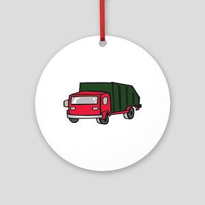 GARBAGE TRUCK Ornament (Round)